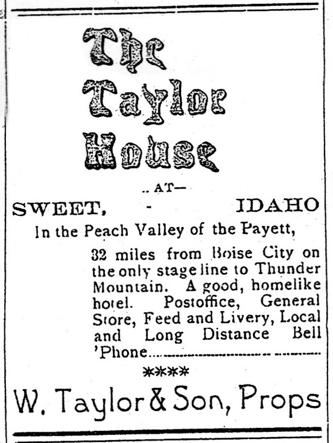 Taylor House, Sweet